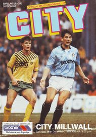 millwall home 1989 to 90 prog