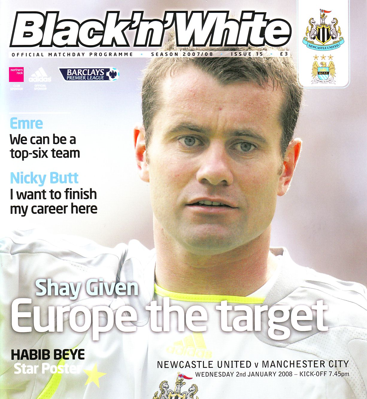 newcastle away 2007 to 08 prog
