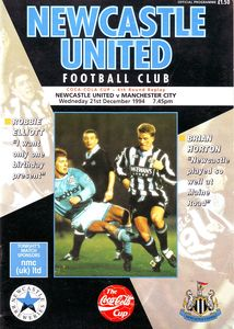 newcastle cola cup away 1994 to 95 prog