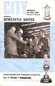 newcastle home 1968 to 69 prog