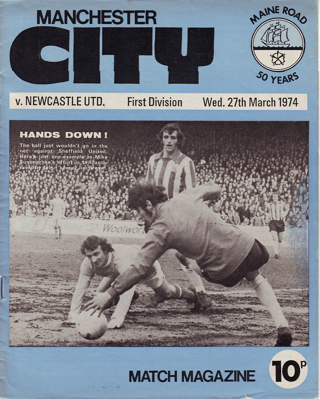 newcastle home 1973 to 74 prog