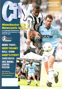 newcastle home 1995 to 96 prog