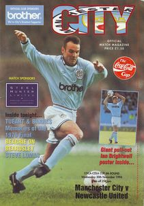 newcastle home cola cup 1994 to 95 prog