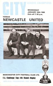 newcastle home fa cup 1968 to 69 prog