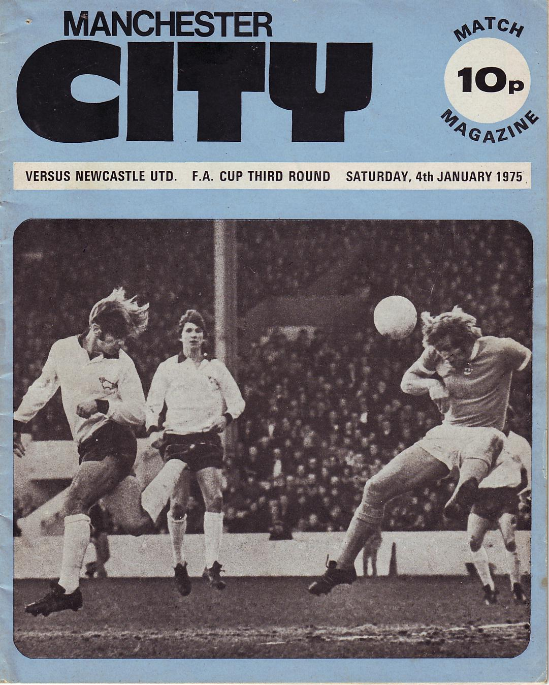 newcastle fa cup 1974to75 prog