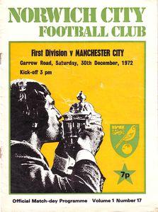norwich away 1972 to 73 prog