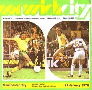 norwich away 1977 to 78 prog