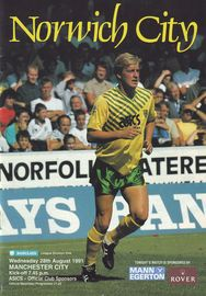 norwich away 1991 to 92 prog
