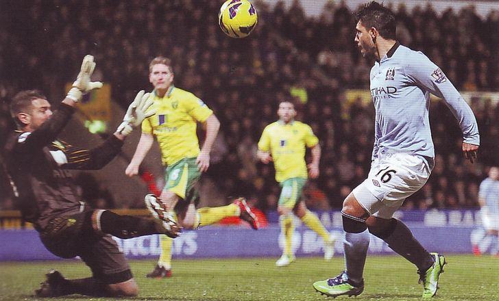 norwich away 2012 to 13 aguero goal