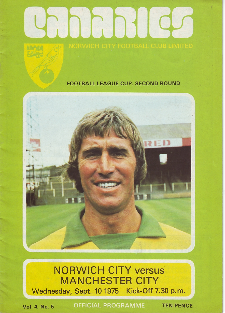 Norwich away lge cup 1975to76 prog