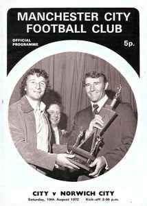 norwich home 1972-73 programme