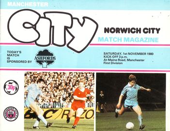 norwich home 1980 to 81 prog