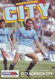 norwich league cup 1989 to 90 prog
