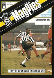 notts county FA CUP 1990 to 91 prog