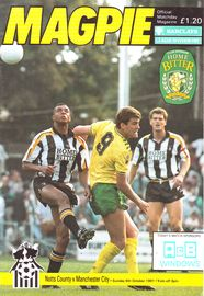 notts county away 1991 to 92 prog