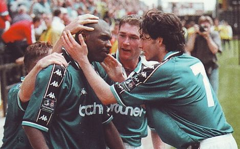 notts county away 1998 to 99 goater goal