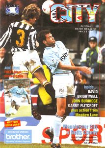 notts county fa cup replay 1994 to 95 prog