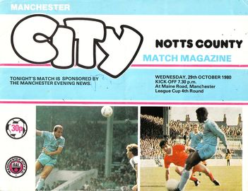 notts county league cup 1980 to 81 prog