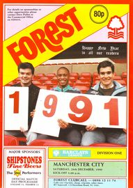 notts forest away 1990 to 91 prog