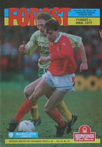 notts forest away 1991 to 92 prog