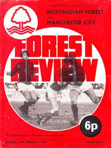 notts forest away fa cup 1973 to 74 prog