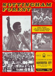 notts forest away fa cup 1977 to 78 prog