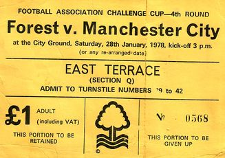 notts forest away fa cup 1977 to 78