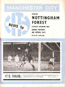 notts forest home 1970-71 programm