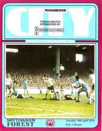 notts forest home 1977 to 78 prog
