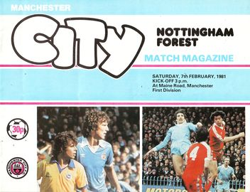 notts forest home 1980 to 81 prog