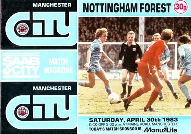 notts forest home 1982 to 83 prog