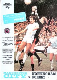 notts forest home 1985 to 86 prog