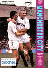 notts forest home 1990 to 91 prog