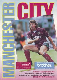 notts forest home 1991 to 92 prog