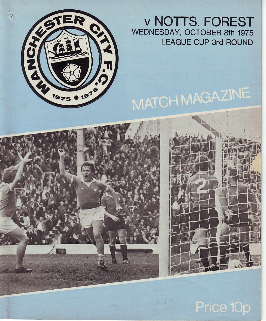 Notts F home league cup 1975to76 prog
