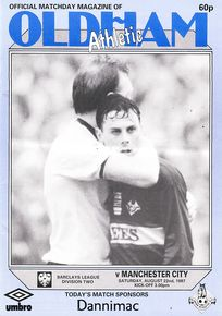 oldham away 1987 to 88 prog