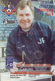 oldham away 1993 to 94 prog