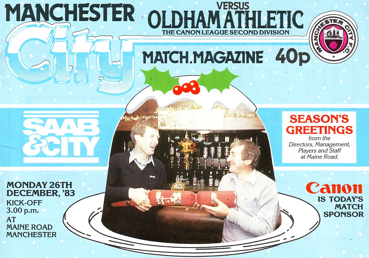 oldham home 1983 to 84 prog