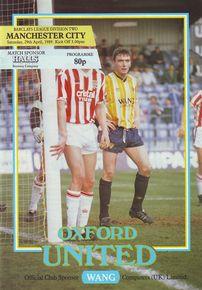 oxford away 1988 to 89 prog