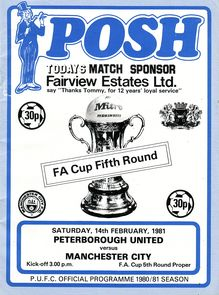 peterborough fa cup 1980 to 81 prog