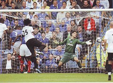 portsmouth away 2009 to 10 adebayor goal