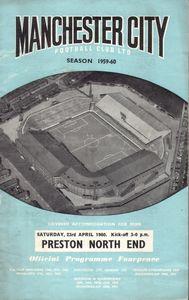 preston home 1959-60 programme