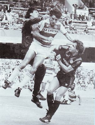 qpr away 1985 to 86 action