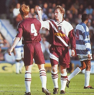 qpr away 1996 to 97 brightwell goal