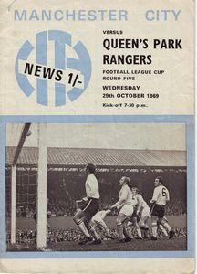 qpr home league cup 1969-70 Programme