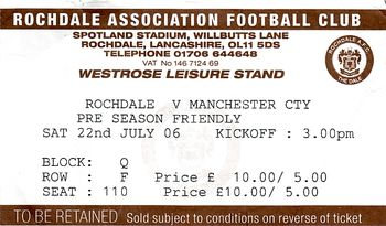 rochdale 2006to07 ticket
