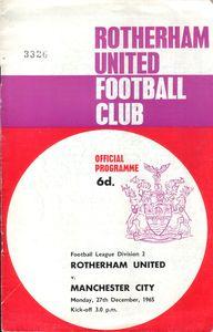 rotherham away 1964-65 programme