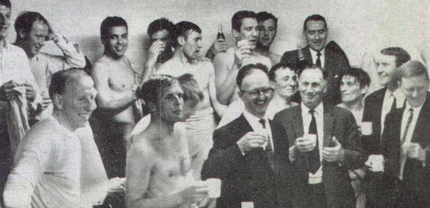 rotherham away 1965-66 promotion celebration