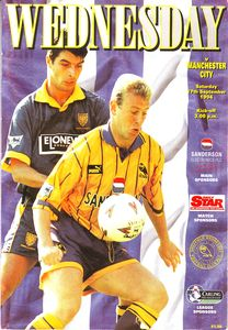 sheff weds away 1994 to 95 prog