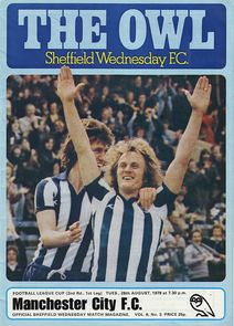 sheff weds league cup 1979 to 80 prog